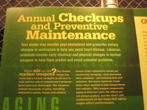 Stockpile Stewardship analogies: Gerontology & Preventive Medicine