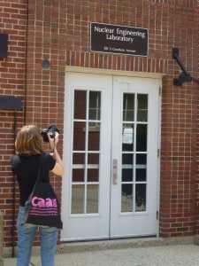 TLC Agent photographing University of Illinois Nuclear Engineering Laboratory
