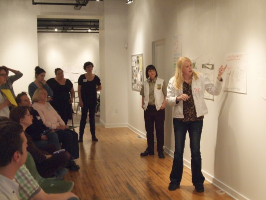 Charrette concluding pn-up and show and tell
