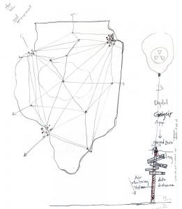Illinois Nuclear Web Tour Concept Sketch