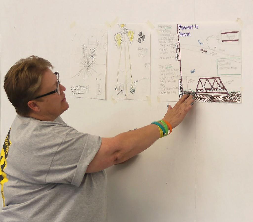 Jane Thompson, Sharon Johanssen, and Lila Pinkus devised a sunken bridge monument for the vanished town of Uravan